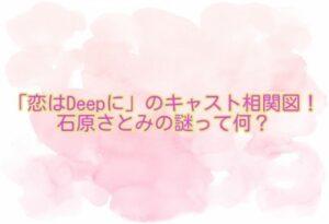 「恋はDeepに」のキャスト相関図!石原さとみの謎って何?